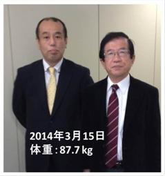 糖質制限前:武田邦彦先生と